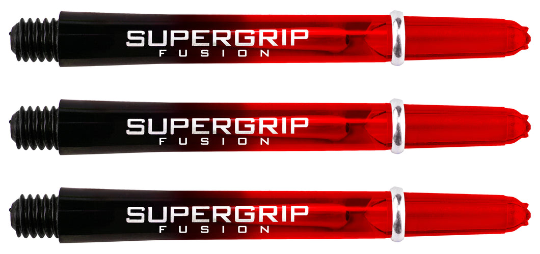 Harrows Supergrip Fusion Dart Shafts - Black & Red