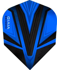Harrows Vivid Dart Flights - 100 Micron - Standard - Blue