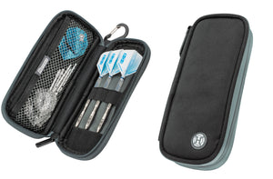 Harrows Z200 Dart Case - Dart Wallet - Holds Fully Assembled Darts - Black & Grey