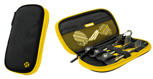 Harrows Z400 Dart Case - Dart Wallet - Holds Fully Assembled Darts - Black & Yellow
