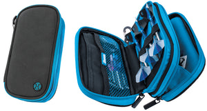Harrows Z800 Dart Case - Dart Wallet - Practical - Holds Fully Assembled Darts - Black & Aqua