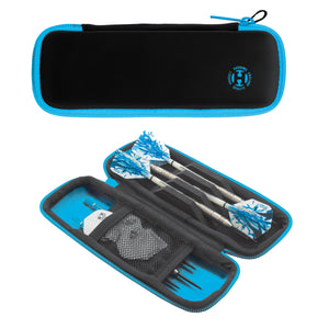 Harrows Blaze Dart Wallet - Strong and Durable - Holds Fully Assembled Darts - Aqua