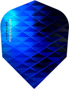 Harrows Paragon Dart Flights - 100 Micron - Extra Strong - Blue