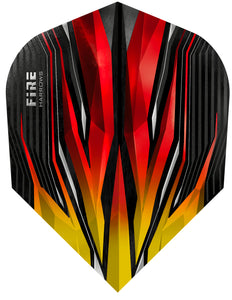 Harrows Fire Inferno - Dart Flights - 100 Micron - No6 - Standard - Red & Yellow
