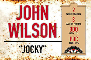 Metal Darts Sign - Jocky Wilson - Man Cave - Darts Room