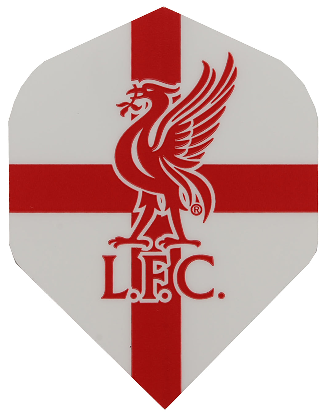 White Liverpool FC Football Dart Flights