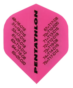 Pentathlon Checkout Pink Dart Flights