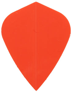 Poly Neon Orange Kite Shape Dart Flights