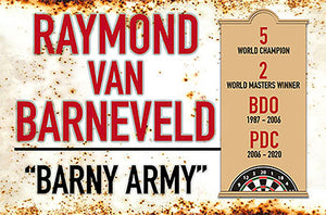 Metal Darts Sign - Raymond Van Barneveld - Man Cave - Darts Room