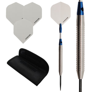 Silver Shark 1 - 85% Tungsten Darts - Razor Grip - 20g - 33g