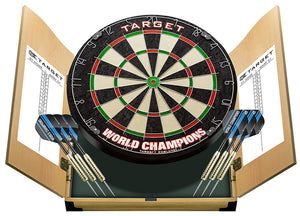 Target World Champion Home Dart Centre - Dartboard - Cabinet - Darts - Full Set Up