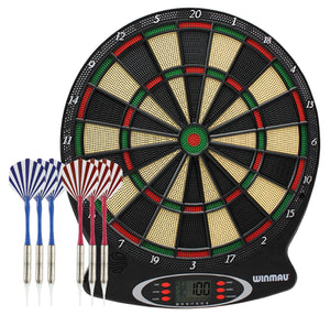 Winmau Ton Machine Electronic Soft Tip Dartboard - New Edition - Dart Set