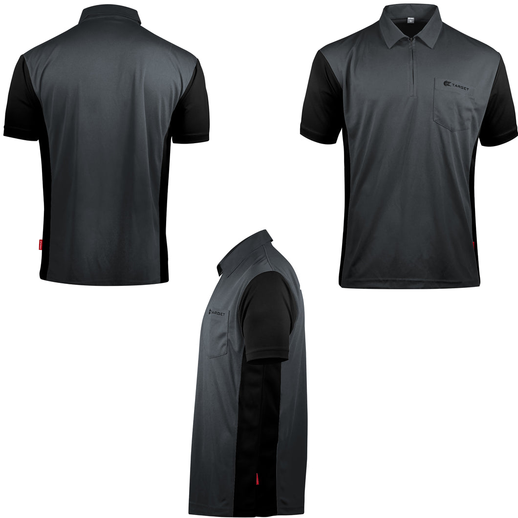 Target Cool Play Hybrid 3 Dart Shirt - Grey & Black