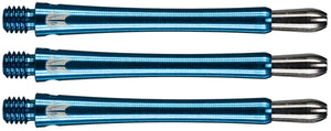 Target Grip Style Aluminium Shafts With Replaceable Tops - Blue