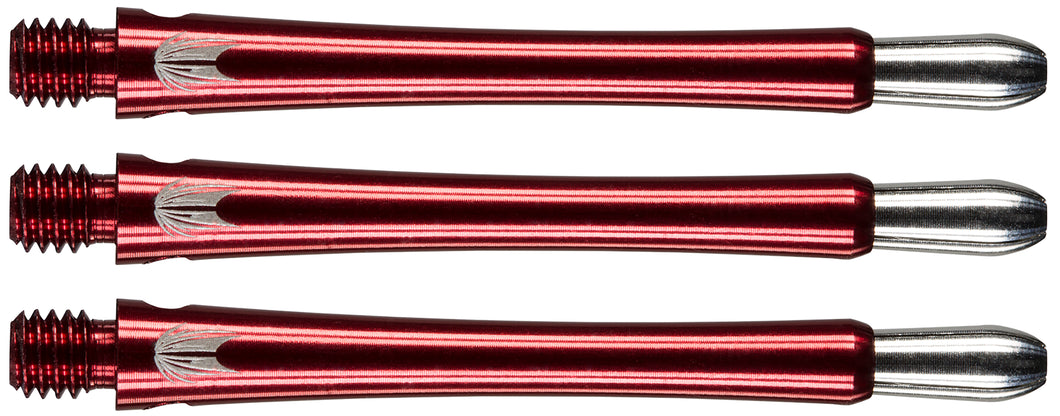 Target Grip Style Aluminium Shafts With Replaceable Tops - Red