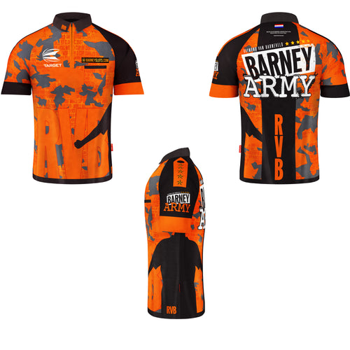 Target Raymond Van Barneveld RVB Barney Army Cool Play Dart Shirt - All Sizes
