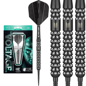 Target Rob 'Voltage' Cross Black Pixel - 90% Tungsten Darts - 21g 23g 25g