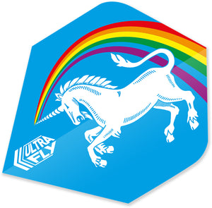 Unicorn Rainbow - Blue - Ultrafly.100 - Plus - Dart Flights