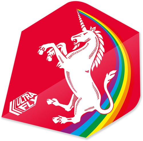 Unicorn Rainbow - Red - Ultrafly.100 - Plus - Dart Flights