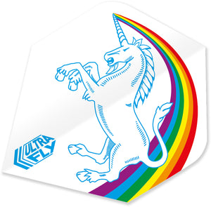 Unicorn Rainbow - White - Ultrafly.100 - Plus - Dart Flights