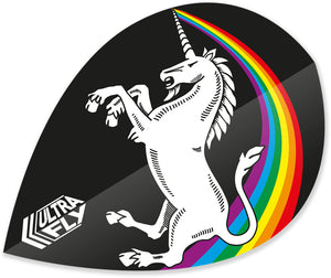 Unicorn Rainbow - Black - Ultrafly.100 - Xtra - Dart Flights