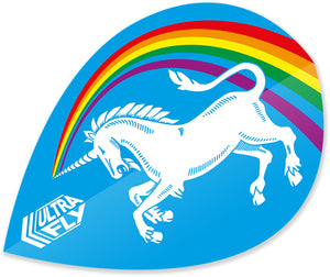 Unicorn Rainbow - Blue - Ultrafly.100 - Xtra - Dart Flights