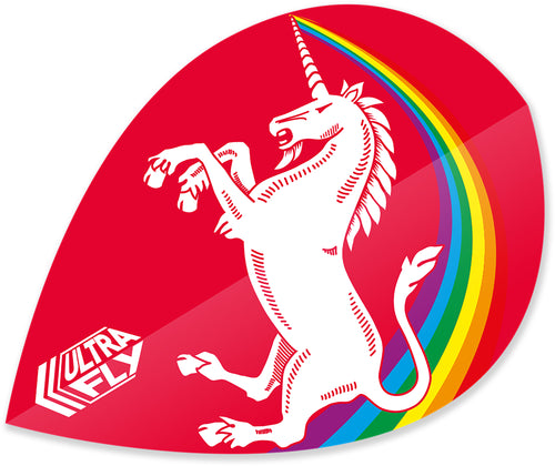 Unicorn Rainbow - Red - Ultrafly.100 - Xtra - Dart Flights