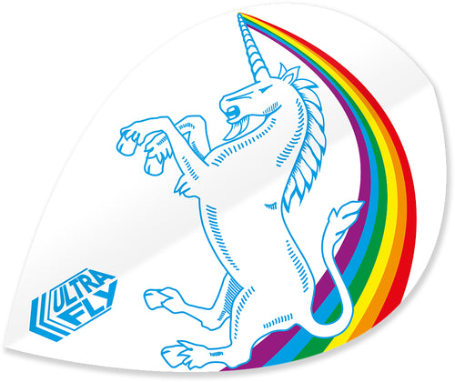 Unicorn Rainbow - White - Ultrafly.100 - Xtra - Dart Flights
