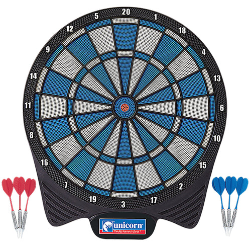 Unicorn Soft Tip Dartboard - Includes 6 Darts