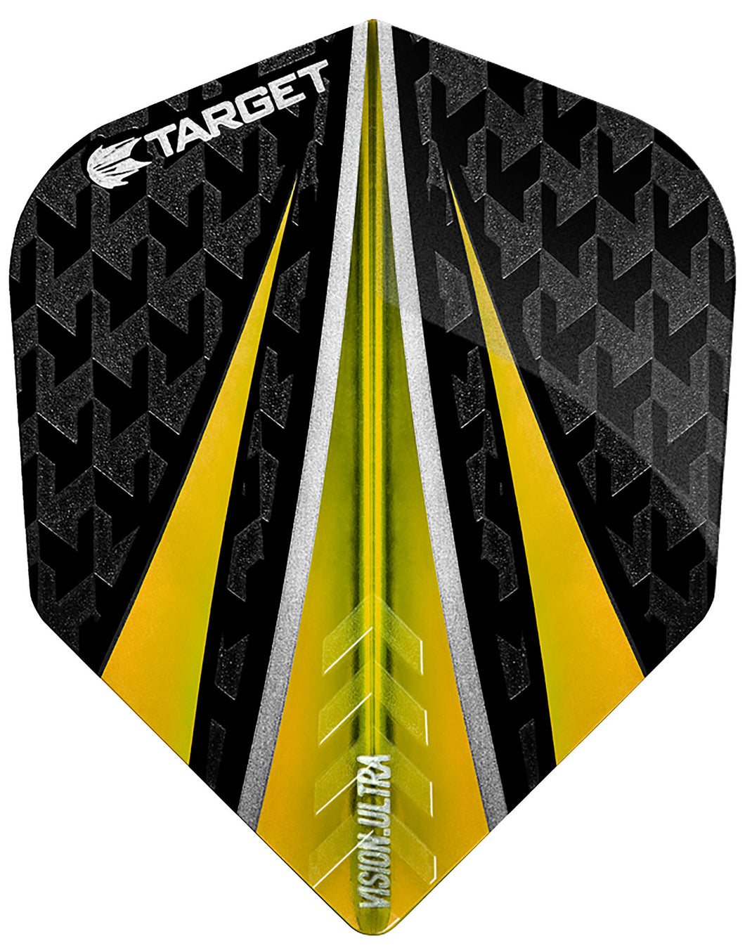 Target Vision Ultra Black/Yellow 3 Fin Dart Flights