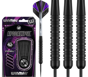 Winmau Apocalypse - Black Coated - Brass Darts - 19g 21g