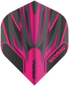 Winmau Prism Alpha Flights - Standard Shape - Black & Pink