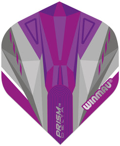 Winmau Prism Delta Flights - Standard - Purple & Grey
