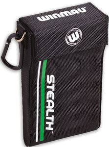 Winmau Stealth Dart Case - Green - Holds Fully Assembled Darts - Magnetic Strap