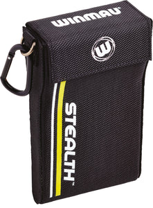 Winmau Stealth Dart Case - Yellow - Holds Fully Assembled Darts - Magnetic Strap