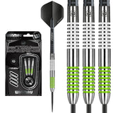 Winmau Ton Machine Green / White 80% Tungsten Darts - 25g 27g