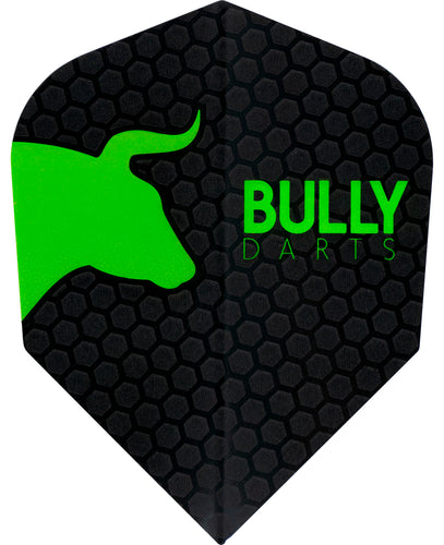 Bully Dart Flights - Green - 100 Micron - Standard Shape
