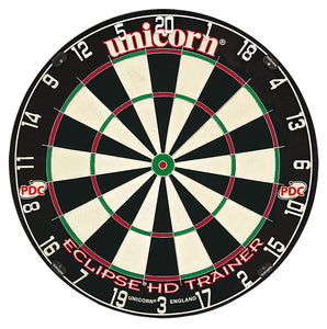 Unicorn Eclipse HD Trainer Dartboard - Professional - Thinner Doubles and Trebles HD Trainer - Steel Tip