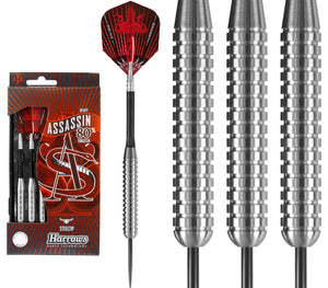 Harrows Assassin Darts - Steel Tip Tungsten - Made in England - Heavy - 32g