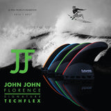 Futures John John Florence Techflex Tri Fin Set Black / Neon Blue - Small-Futures John John Florence Techflex Tri Fin Set Black / Neon Blue - Small-Green Overhead