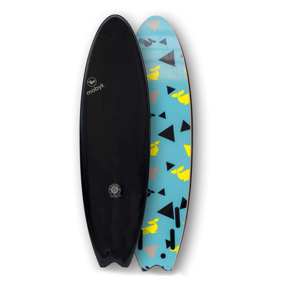 Mobyk Quad Fish Softboard (Black)