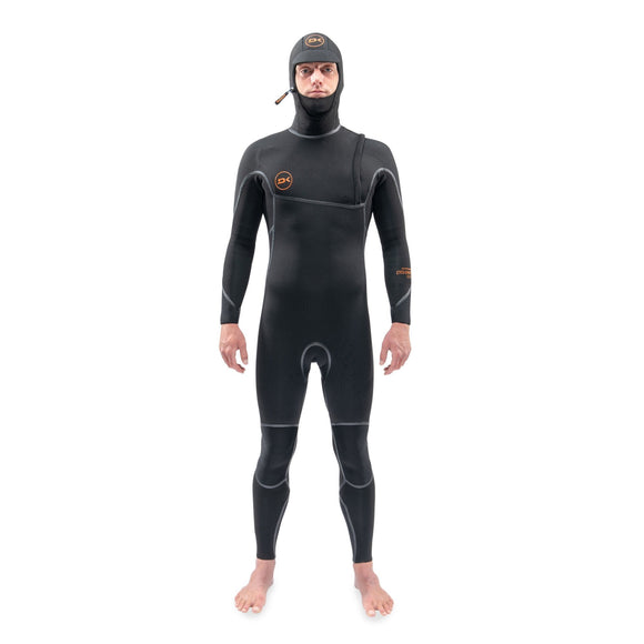 Dakine Mens Cyclone Zip Free Hooded Wetsuit - Black