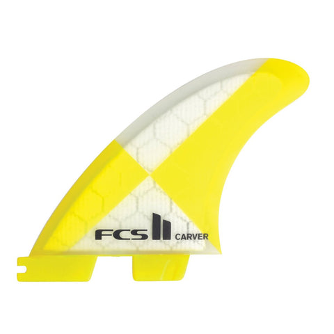 FCS II Carver PC Yellow Tri Set - Medium-FCS II Carver PC Yellow Tri Set - Medium-Green Overhead