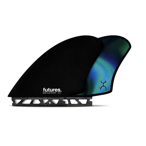 Futures Machado Keel Honeycomb Twin Fin Set Extra Large - Blue-Futures Machado Keel Honeycomb Twin Fin Set Extra Large - Blue-Green Overhead