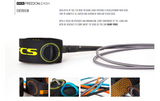 FCS 6' Freedom Surf Leash - Charcoal / Yellow-FCS 6' Freedom Surf Leash - Charcoal / Yellow-Green Overhead