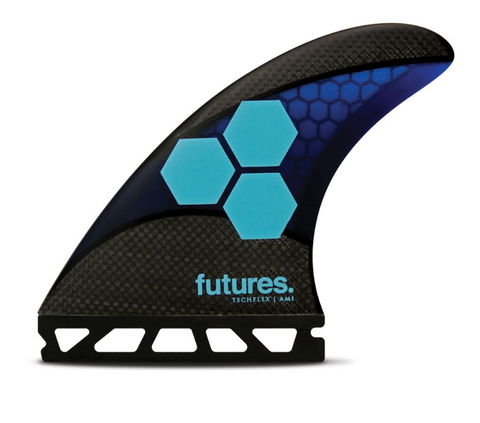 Futures AM1 Techflex Tri Fin Set Medium - Blue / Cyan-Futures AM1 Techflex Tri Fin Set Medium - Blue / Cyan-Green Overhead