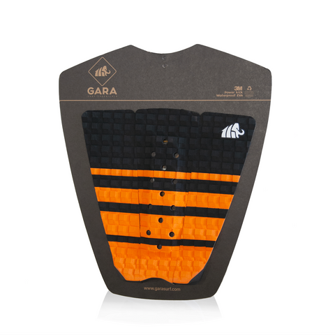 Gara Lines 3 Piece Tailpad - Orange-Gara Lines 3 Piece Tailpad - Orange-Green Overhead