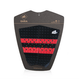 Gara Simple 2 Piece Tailpad - Red-Gara Simple 2 Piece Tailpad - Red-Green Overhead