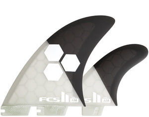 FCS II AM PC Twin+1 Fin Set - Extra Large-FCS II AM PC Twin+1 Fin Set - Extra Large-Green Overhead