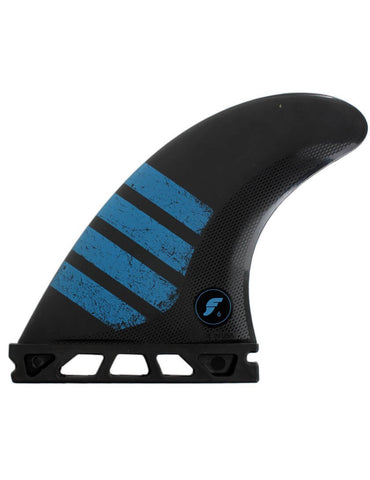 Futures F6 Alpha Tri Fin Set Medium - Carbon / Blue-Futures F6 Alpha Tri Fin Set Medium - Carbon / Blue-Green Overhead